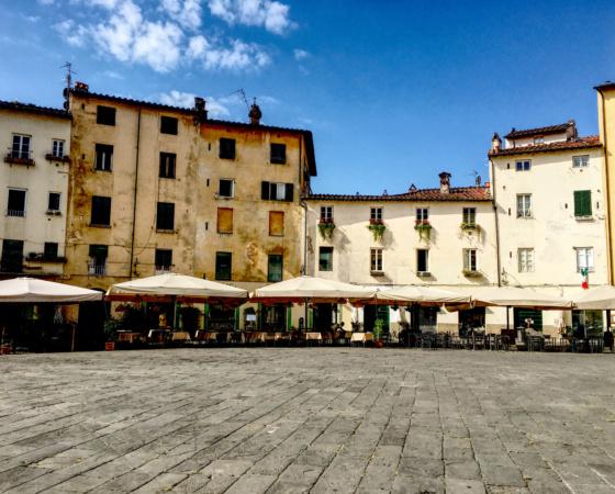 Lucca Italy Piazza Anfiteatro