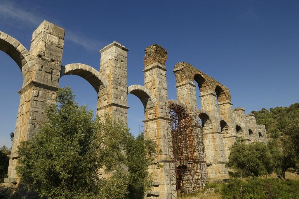 Greece Lesvos Aquaduct